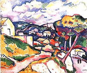 Landscape l'Estaque 1906 - Georges Braque reproduction oil painting