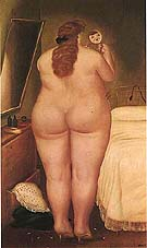 Morning Toilette 1971 - Fernando Botero reproduction oil painting