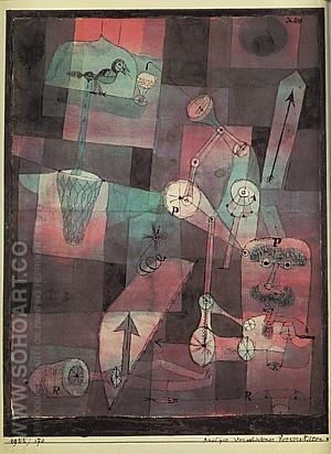 Analysis of Various Perversities  1922 - Paul Klee reproduction oil painting