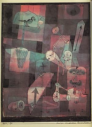 Analysis of Various Perversities  1922 - Paul Klee reproduction oil painting