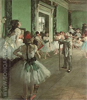 Dance Class 1874 - Edgar Degas reproduction oil painting