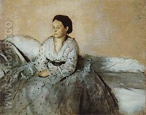 Estelle Musson, 1872-73 - Edgar Degas reproduction oil painting
