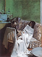 The Pedicurist, 1873 - Edgar Degas reproduction oil painting