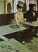 The Absinth Drinker, 1875-76 - Edgar Degas reproduction oil painting