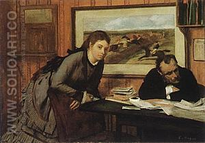 Bad Mood, about 1869-71 - Edgar Degas reproduction oil painting
