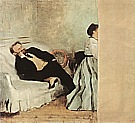 Monsieur and Madame Edouard Manet, c1868 - Edgar Degas reproduction oil painting