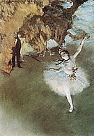 The Star, (Prima Ballerina) 1876-77 - Edgar Degas reproduction oil painting