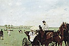 Carriage at the Races in the Countryside, 1869 - Edgar Degas reproduction oil painting