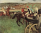 At the Races, Amateur Jockeys, 1876-87 - Edgar Degas reproduction oil painting