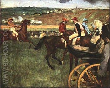 Jockeys, 1882-83 - Edgar Degas reproduction oil painting