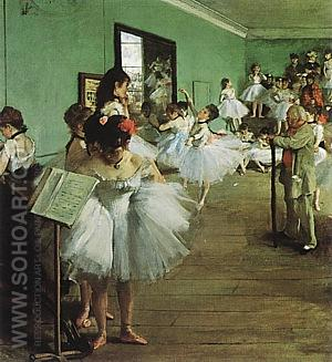 Dancing Examination, 1874 - Edgar Degas reproduction oil painting