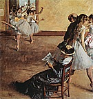 The Foyer of the Opera House, 1872 - Edgar Degas reproduction oil painting