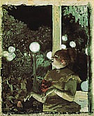 The Song of the Dog, about 1876-77 - Edgar Degas reproduction oil painting