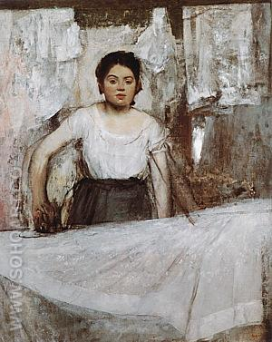 Woman Ironing, about 1869 - Edgar Degas reproduction oil painting