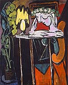 Girl Reading at a Table 1934 - Pablo Picasso reproduction oil painting