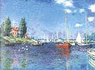 Red Boats. Argenteuil 1875 - Claude Monet reproduction oil painting