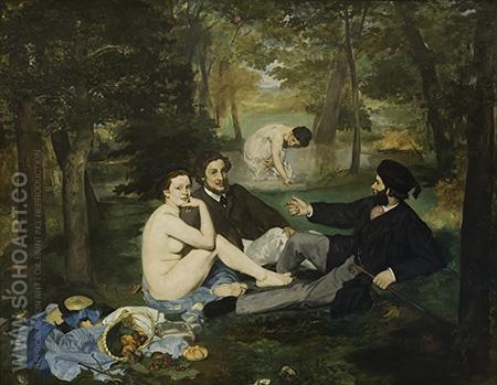 Le Dejeuner sur l'herbe Luncheon on the Grass 1863 - Edouard Manet reproduction oil painting