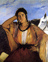 Gypsy with a Cigarette 1862 - Edouard Manet reproduction oil painting