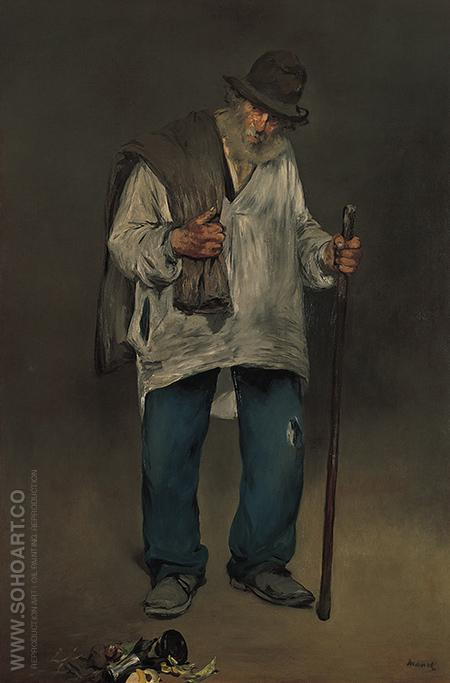 The Ragpicker c1865 - Edouard Manet reproduction oil painting