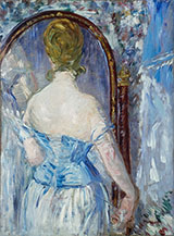 Before the Mirror 1876 - Edouard Manet reproduction oil painting