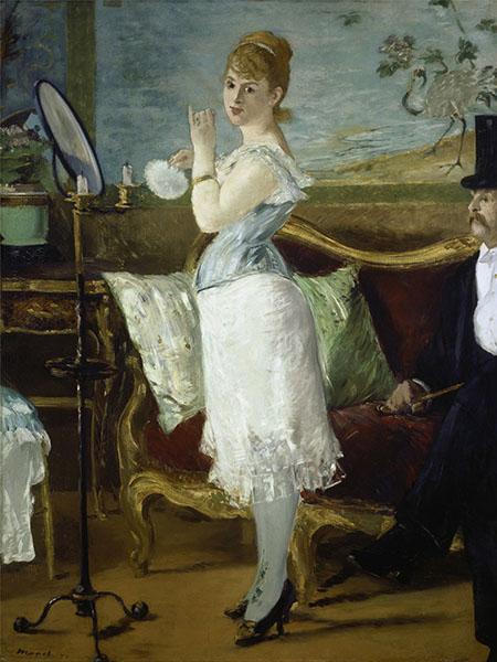 Nana 1877 - Edouard Manet reproduction oil painting