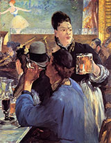 Corner in a Cafe Concert c1878 - Edouard Manet reproduction oil painting