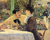 Couple at Pere Lathuille 1879 - Edouard Manet reproduction oil painting
