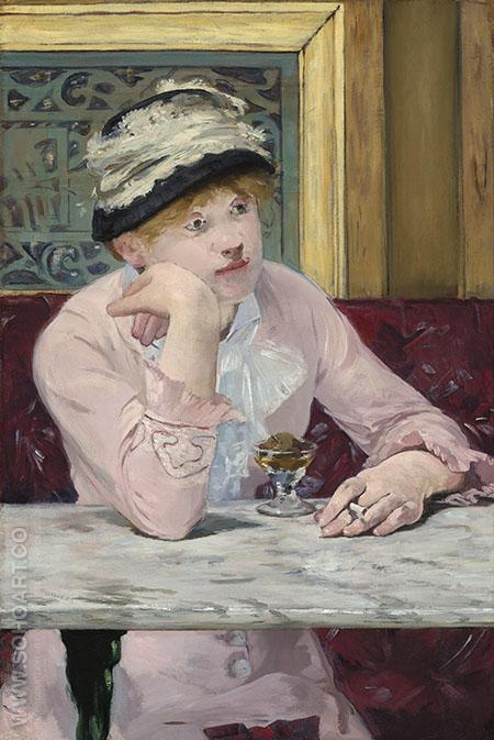 The Plum 1877 - Edouard Manet reproduction oil painting