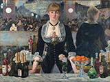 A Bar at the Folies Bergere c1881 - Edouard Manet reproduction oil painting
