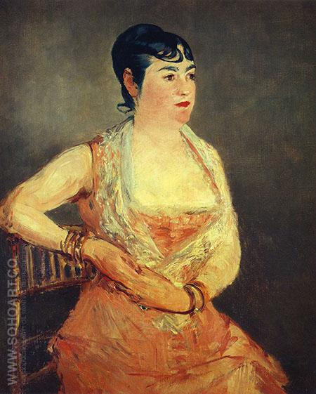 Jeanne Martin in Pink Dress 1881 - Edouard Manet reproduction oil painting