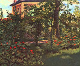 The Bellevue Garden 1880 - Edouard Manet reproduction oil painting