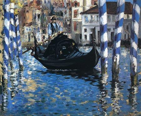 The Grand Canal Venice Blue Venice 1875 - Edouard Manet reproduction oil painting