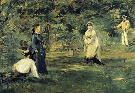 Croquet 1873 - Edouard Manet reproduction oil painting