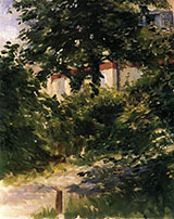 A Path in the Garden at Rueil 1882 - Edouard Manet reproduction oil painting