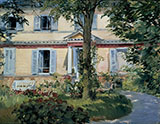 The House in Rueil 1882 - Edouard Manet reproduction oil painting