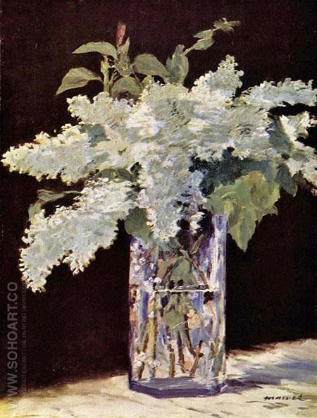 White Lilacs 1883 - Edouard Manet reproduction oil painting