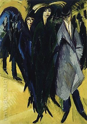 Woman in the Street, 1915 - Ernst Kirchner reproduction oil painting