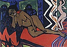 Milly Sleeping, 1911 - Ernst Kirchner reproduction oil painting