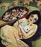 Girl under a Japanese Parasol, 1909 - Ernst Kirchner reproduction oil painting