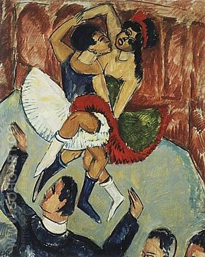 Negro Dance, 1911 - Ernst Kirchner reproduction oil painting