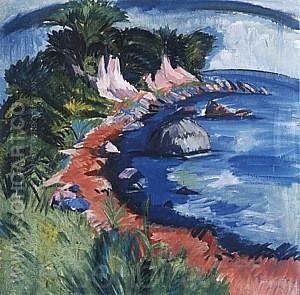 Fehmarn Coast, 1913 - Ernst Kirchner reproduction oil painting