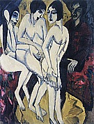 Judgement of Paris, 1913 - Ernst Kirchner reproduction oil painting