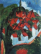 Burg on Fehmarn, 1912 - Ernst Kirchner reproduction oil painting
