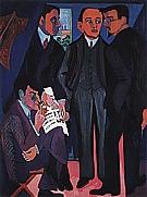 An Artist'Group: Otto Mueller, Kirchner, Heckel, Schmidt-Rottluff, 1926/27 - Ernst Kirchner