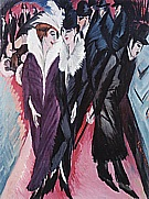 The Street Berlin 1913 - Ernst Kirchner reproduction oil painting