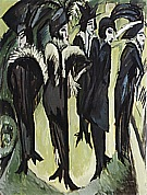 Five Woman in the Street, 1913 - Ernst Kirchner reproduction oil painting