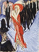 Red Cocotte, 1914 - Ernst Kirchner reproduction oil painting