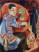 The Drinker; Self-Portrait, 1914/15 - Ernst Kirchner reproduction oil painting