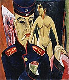 Self-Portrait as a Soldier, 1915 - Ernst Kirchner reproduction oil painting