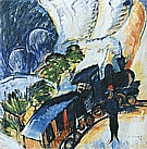 Konigstein Railway Station, 1917 - Ernst Kirchner reproduction oil painting
